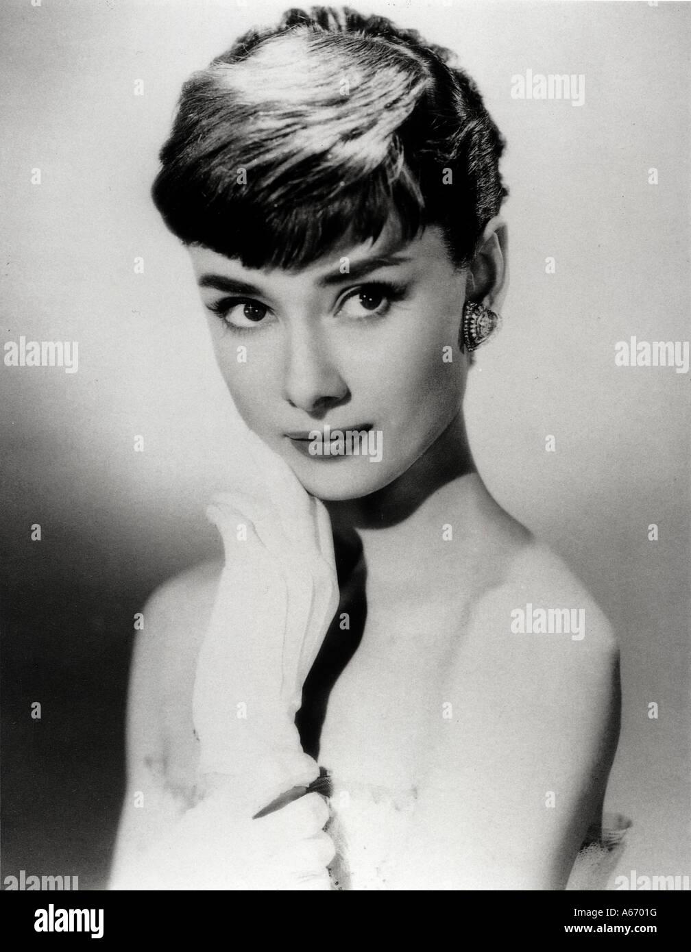 AUDREY HEPBURN -  film actress about 1954 - Stock Image