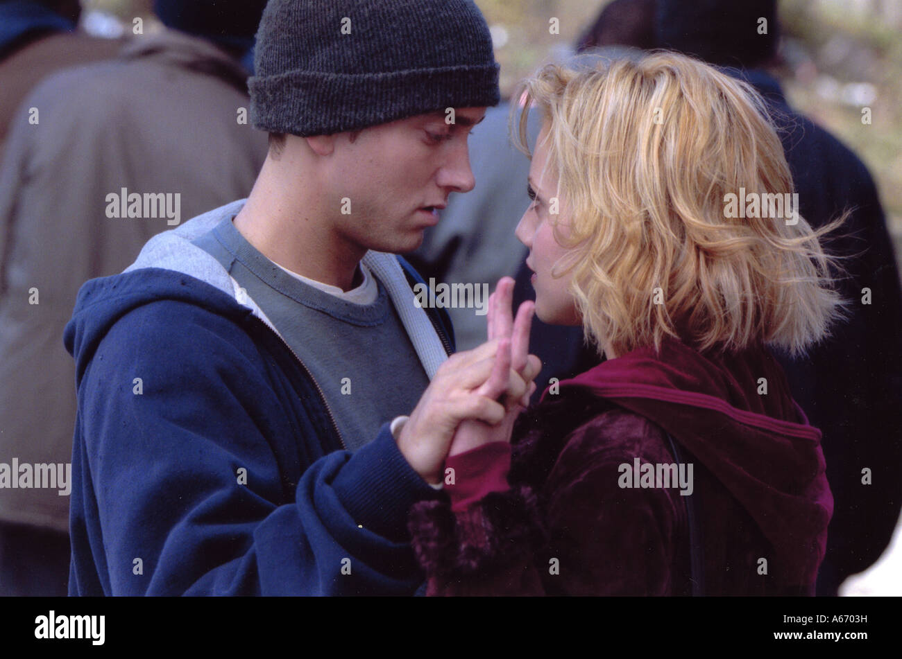 8 MILE 2002 Universal film with Eminem and Brittany Murphy - Stock Image