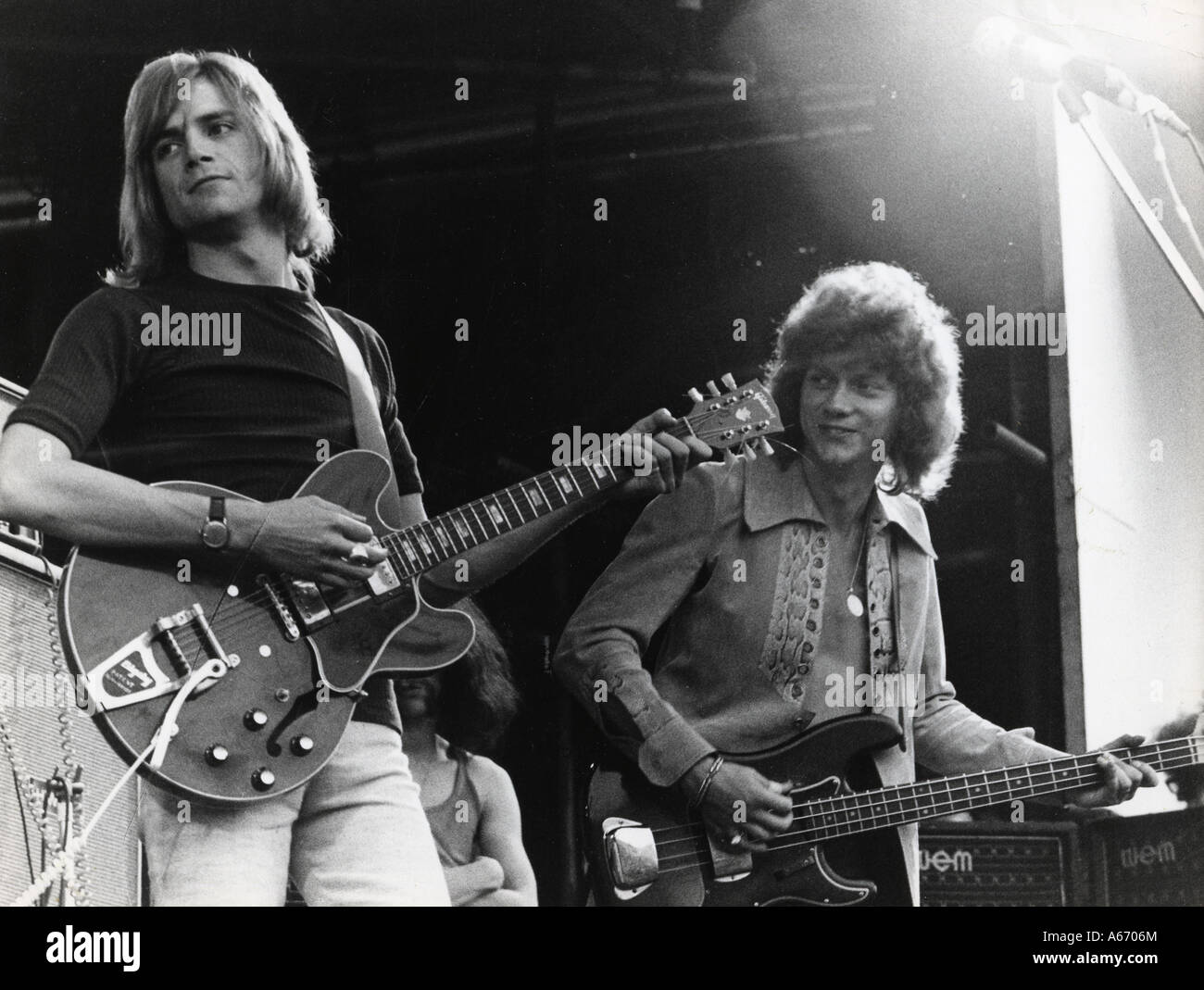 Moody Blues Uk Group With Justin Hayward At Left And John Lodge In Stock Photo Alamy
