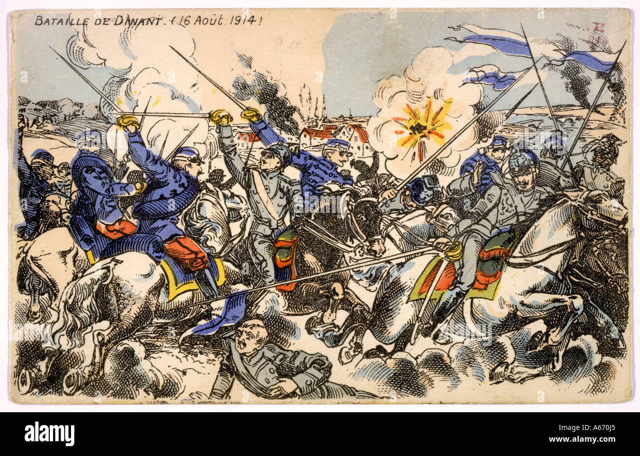 Fighting At Dinant 1914 - Stock Image