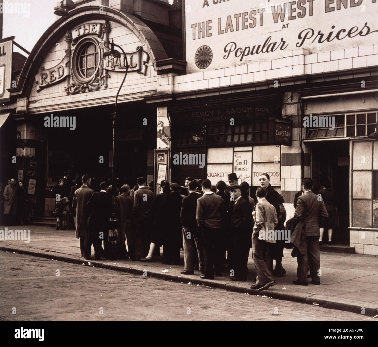 Queueing For Cinema 40s - Stock Image