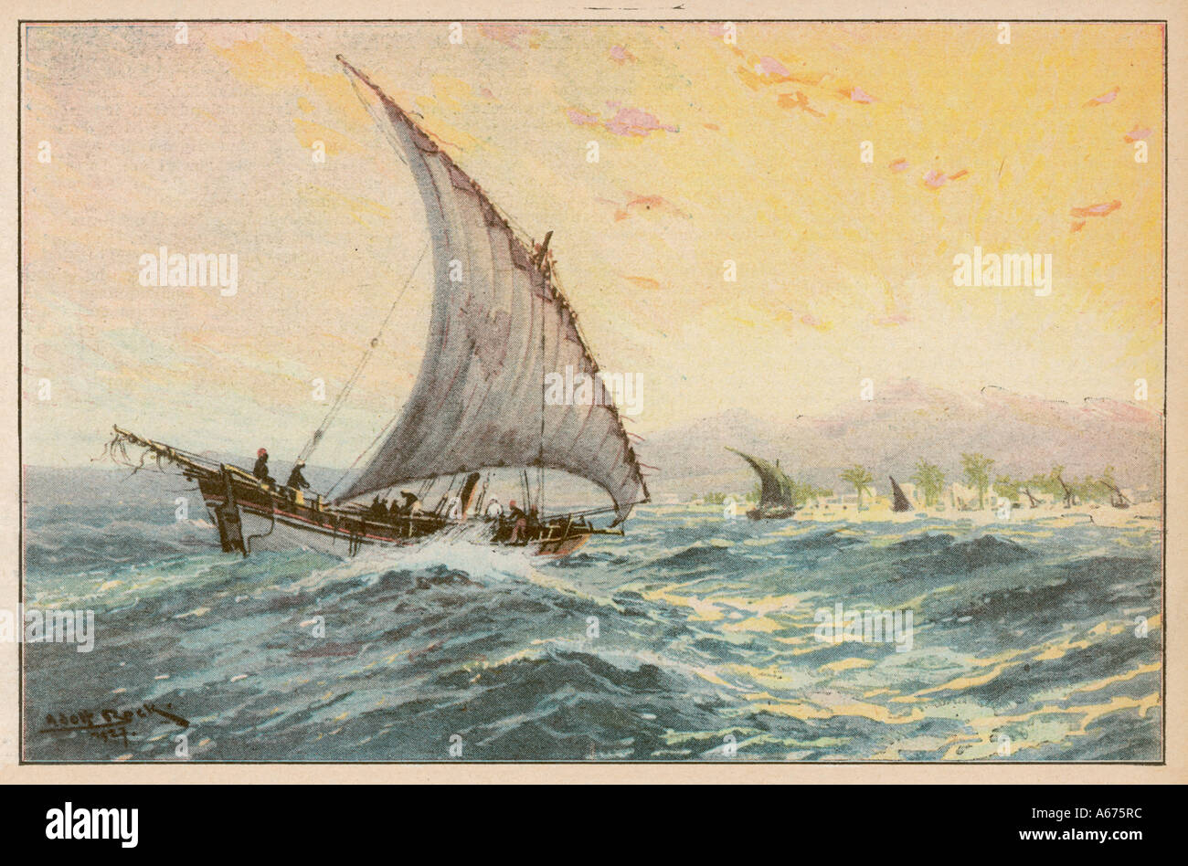 East Africa Dhow - Stock Image
