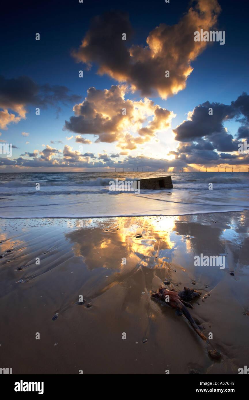 Caister on Sea on the Norfolk Coast Stock Photo