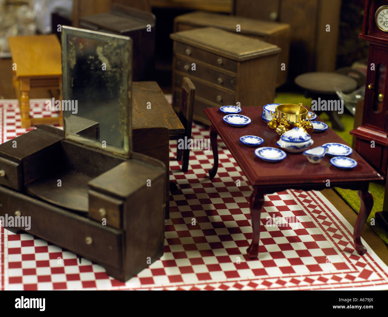 toy furniture - Stock Image