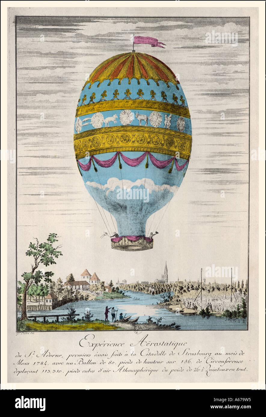 Strasbourg Balloon Trip - Stock Image
