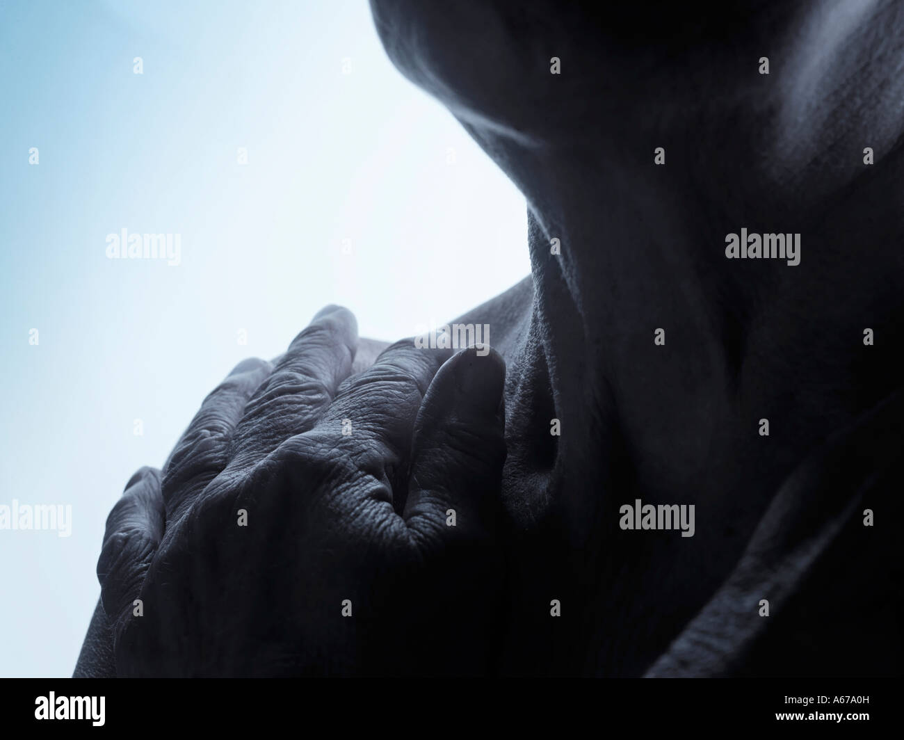 woman in pain - Stock Image