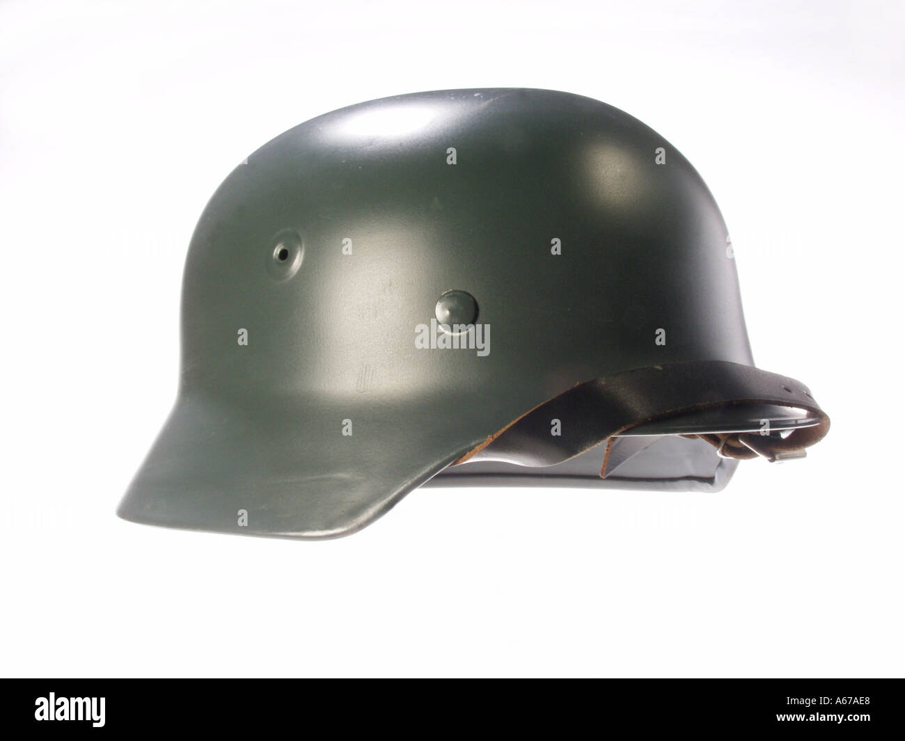 German Helmet - Stock Image