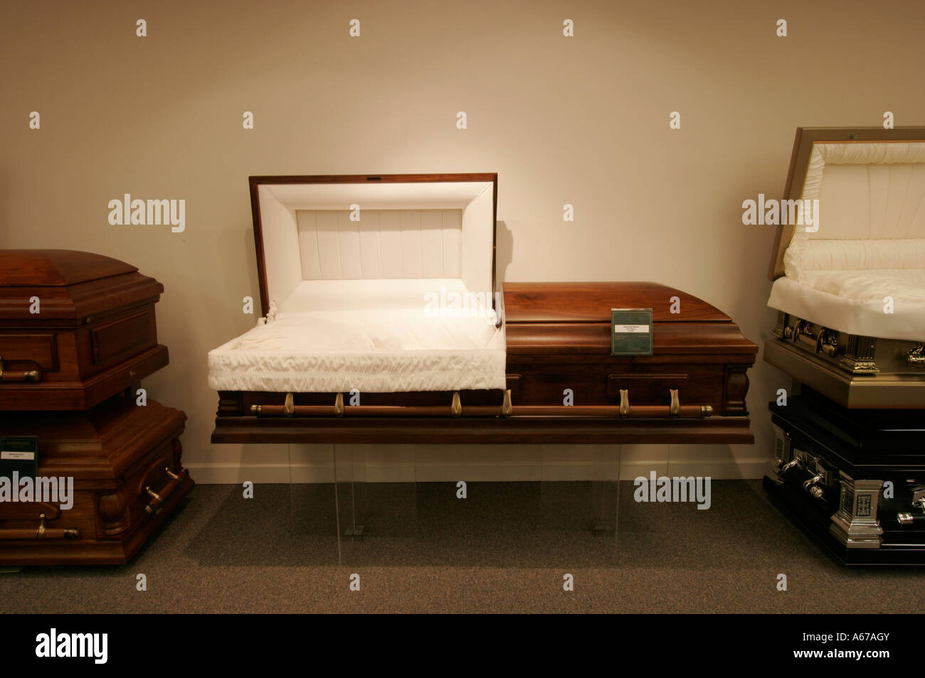 open casket at funeral home stock photo 11484458 alamy