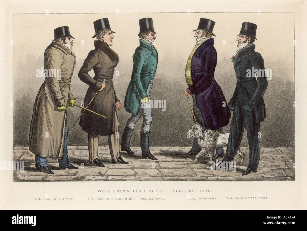 Costume Loungers 1820 - Stock Image
