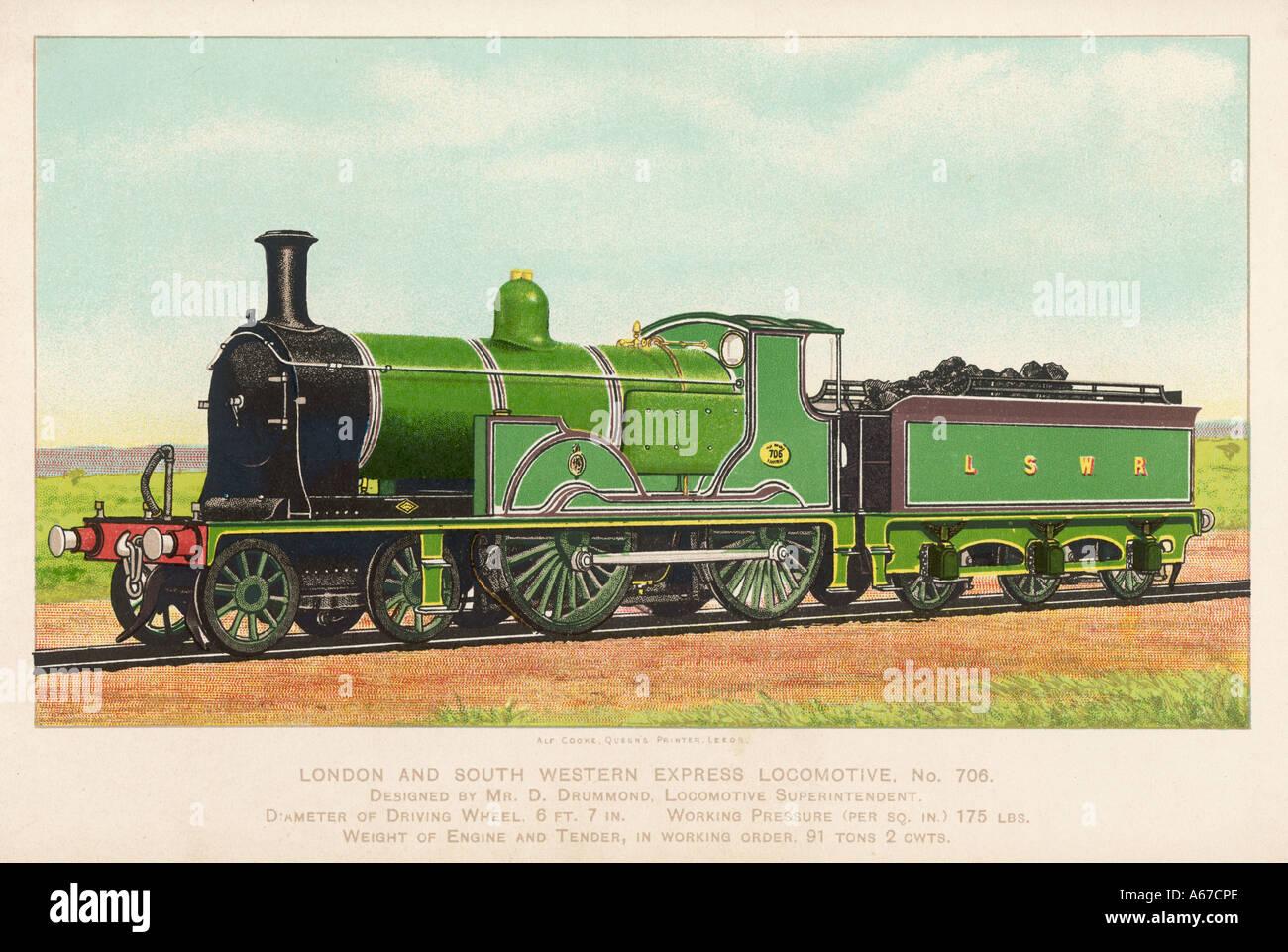 London And Swr Loco 706 - Stock Image
