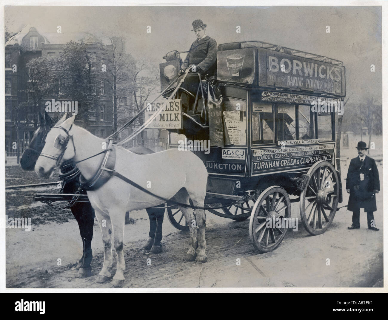 Horse Bus  London - Stock Image