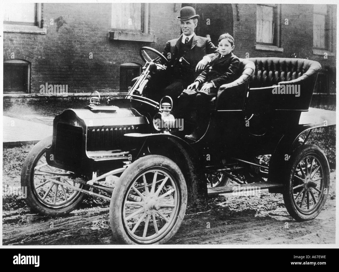 Henry Ford In Model T - Stock Image
