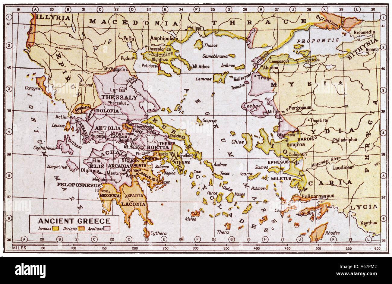 Ancient greece map stock photos ancient greece map stock images map of ancient greece stock image gumiabroncs Choice Image