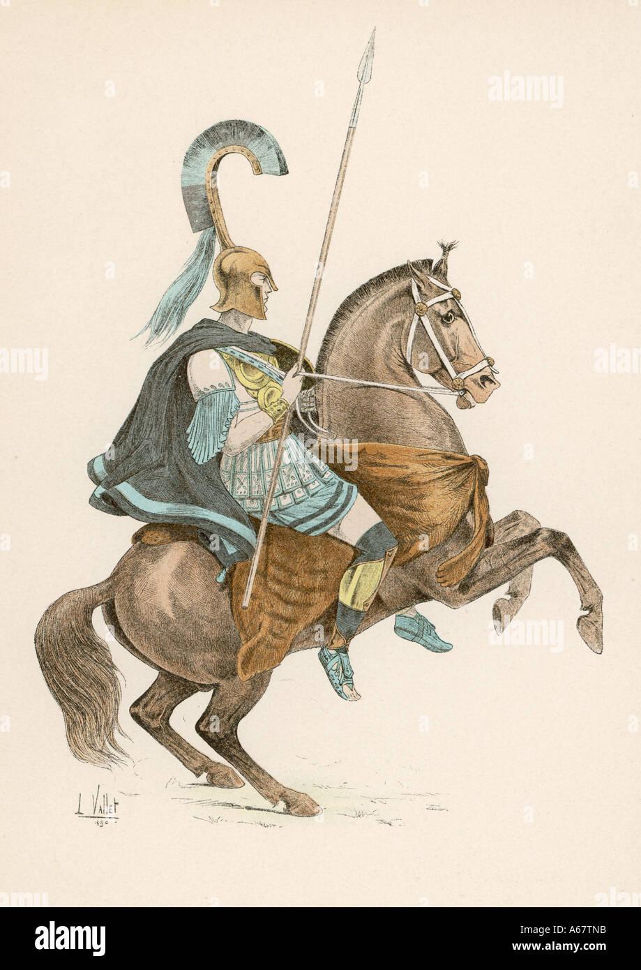 Ancient Greek Cavalry - Stock Image