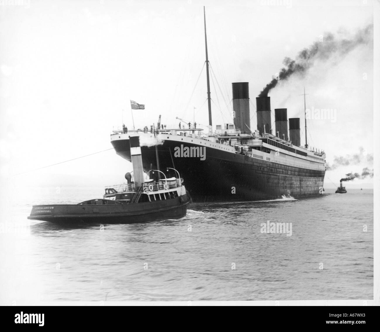 Titanic Leaves Belfast - Stock Image