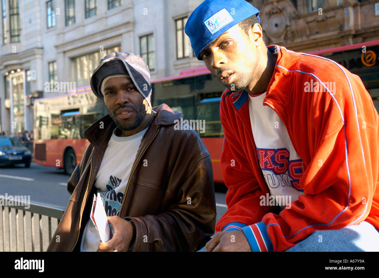 Rap Artists Hanging Out In Oxford Street Stock Photo Alamy