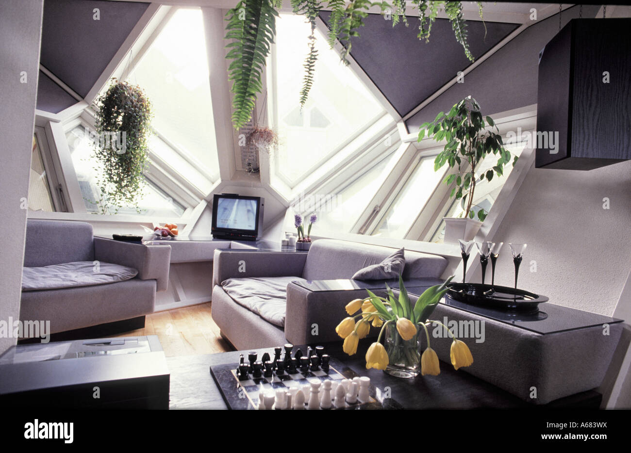 Interior of a tree house a private sector development of for Avant garde interiors
