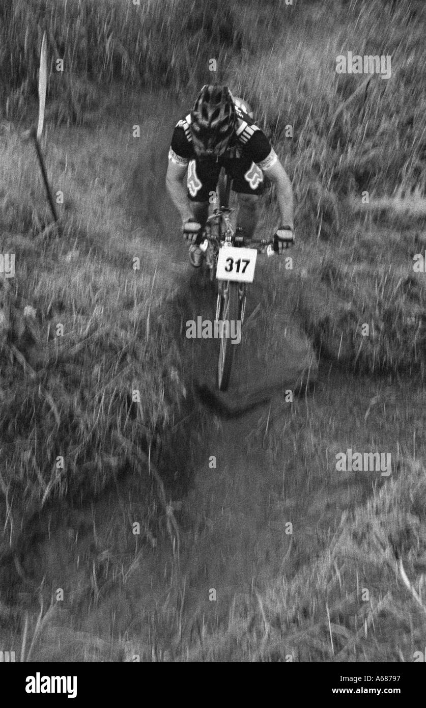 24 hour mountain bike race - Stock Image