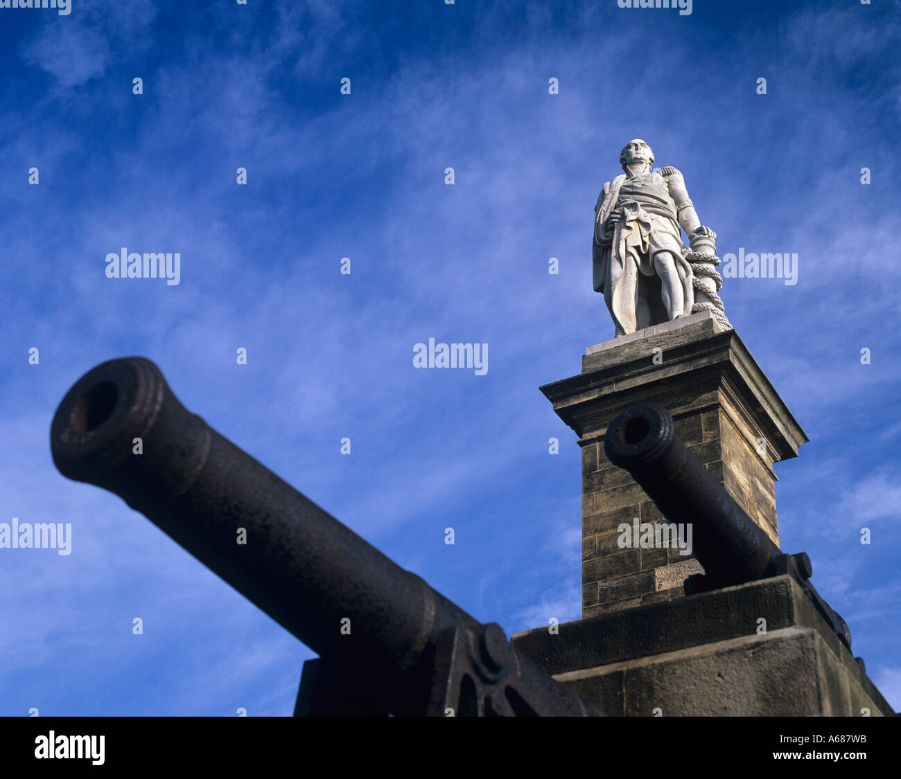 Statue of Admiral Lord Collingwood Tynemouth Tyne & Wear Stock Photo