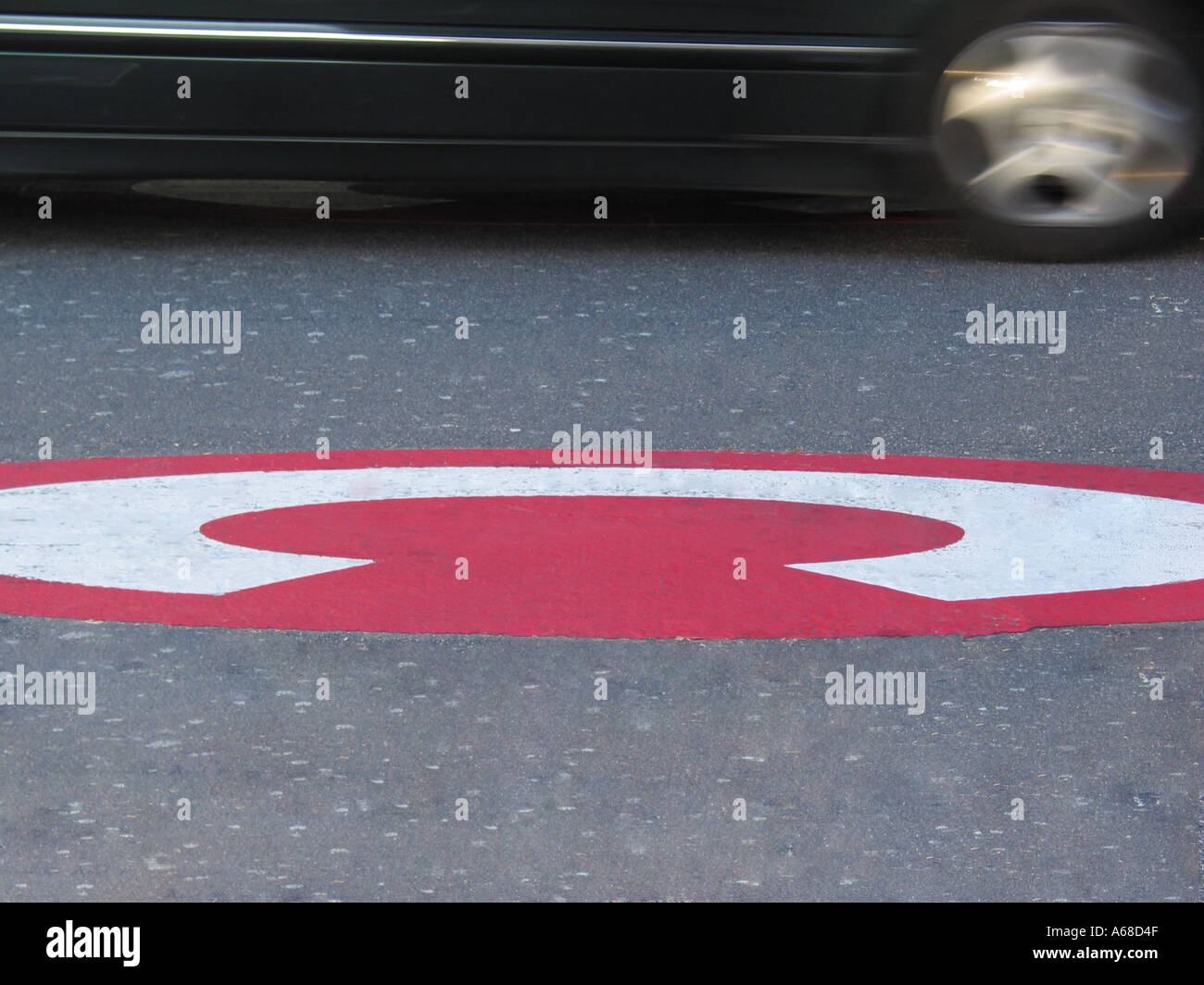 London Congestion Charge Road Sign London England Great Britain - Stock Image