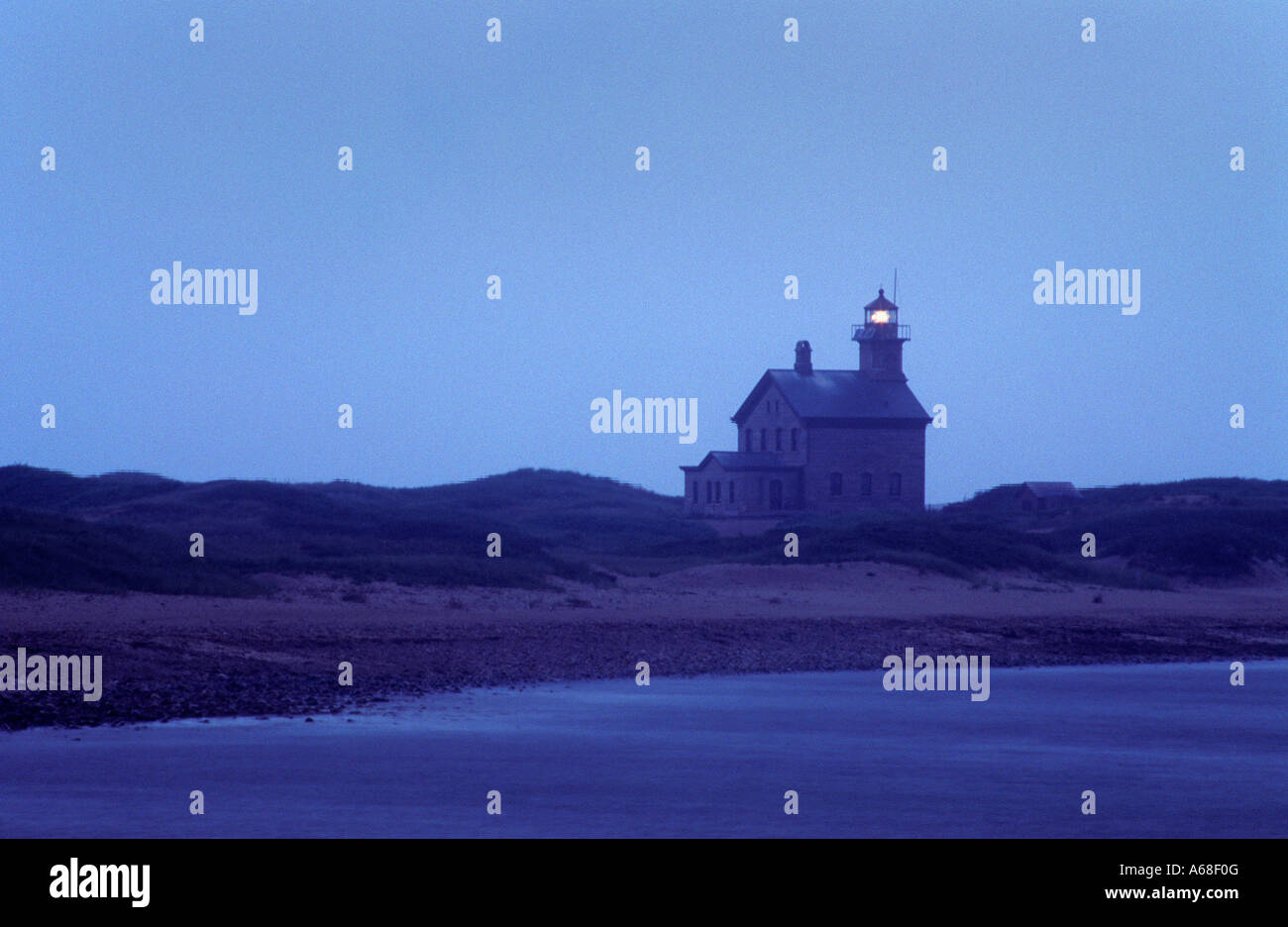 Lighthouse Block Island Rhode Island - Stock Image
