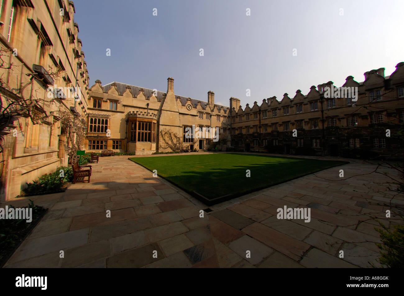 Jesus College Second Quad Oxford - Stock Image