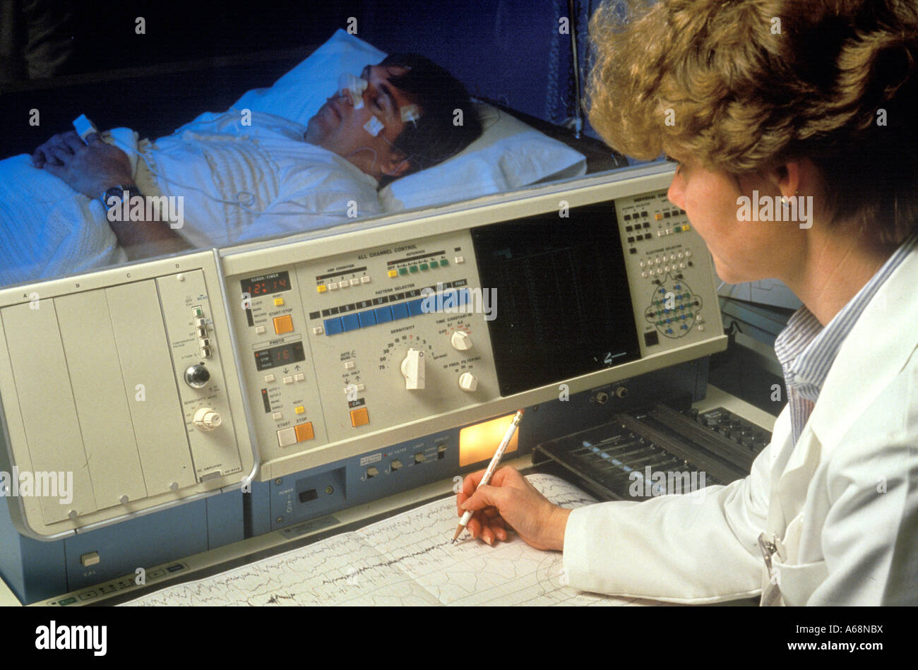 Sleep disorder lab - Stock Image