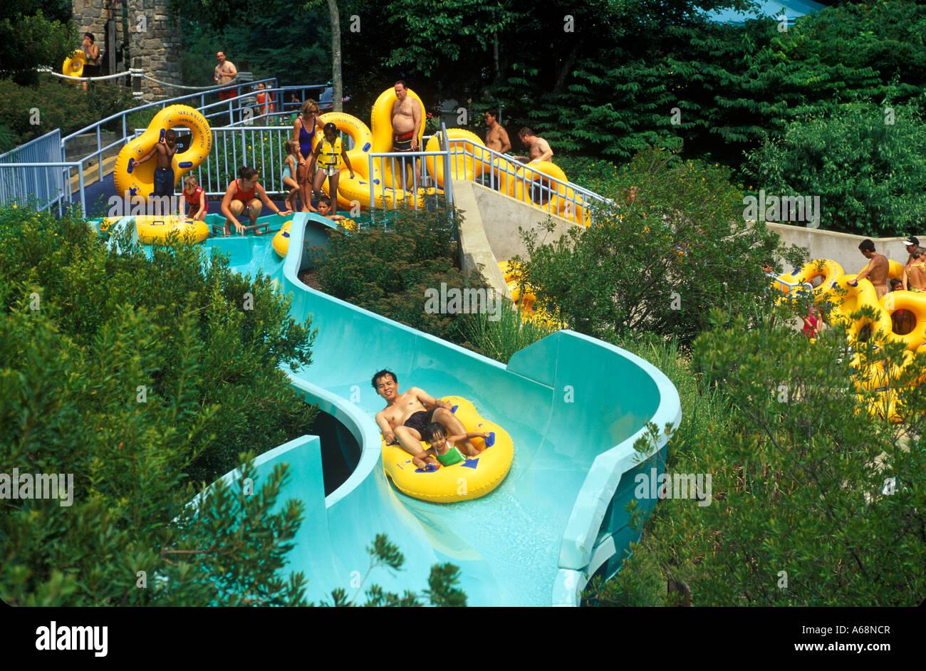 Water Slide, Water Country, Busch Gardens, Willimsburg, Virginia Pictures Gallery
