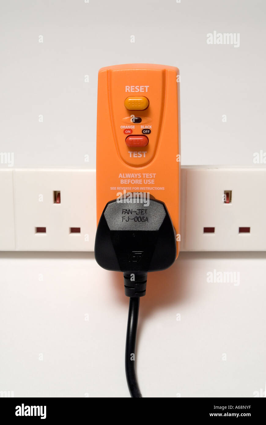Earth Leakage Circuit Breaker Stock Photos Portable Rcb Residual Current Plug In Device To Help Protect Users From Electrocution Whilst Using