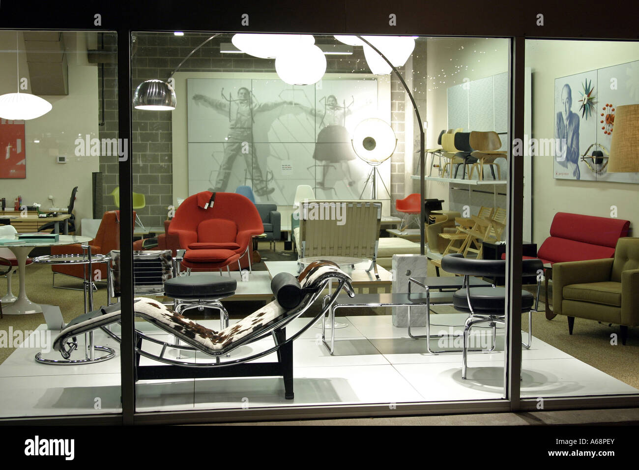A modern furniture storefront in austin texas