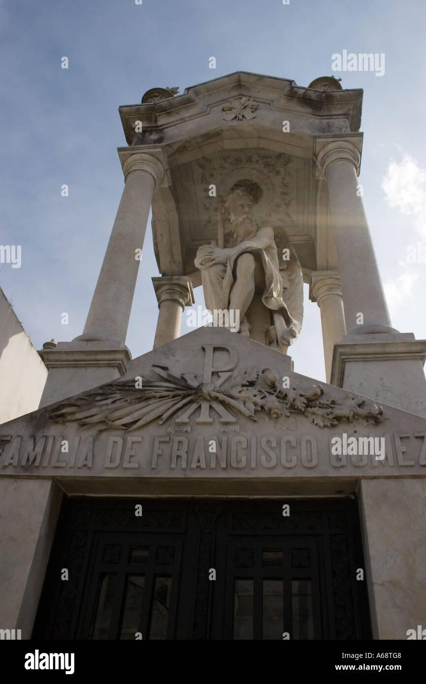 Tomb of Familia De Francisco Gomez Stock Photo