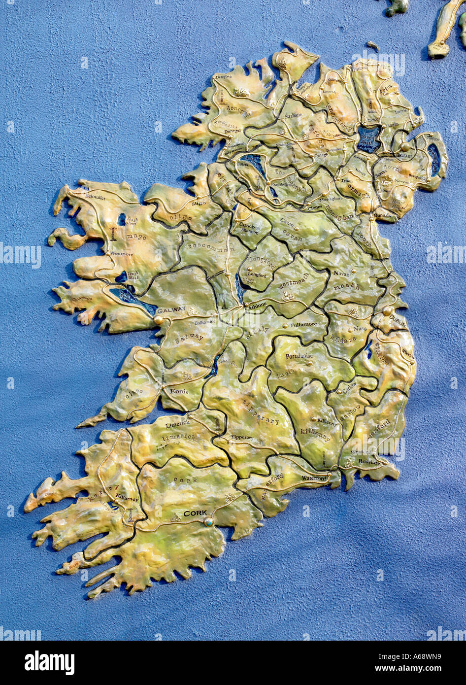 Map Of Ireland 3d.3d Map Of Ireland Stock Photos 3d Map Of Ireland Stock Images Alamy