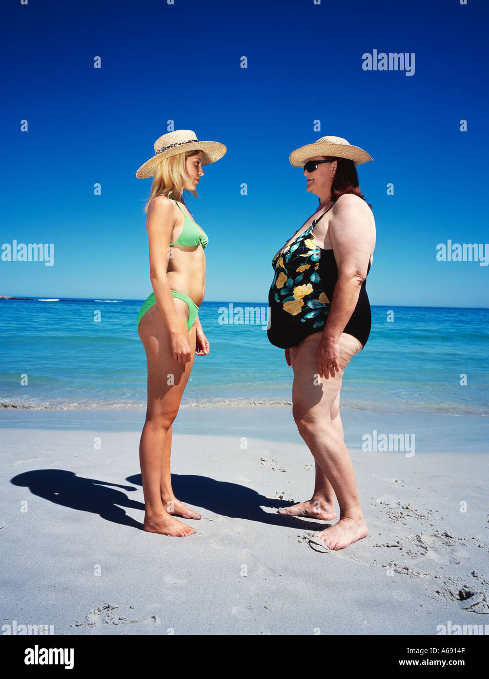 Fat girls on beach