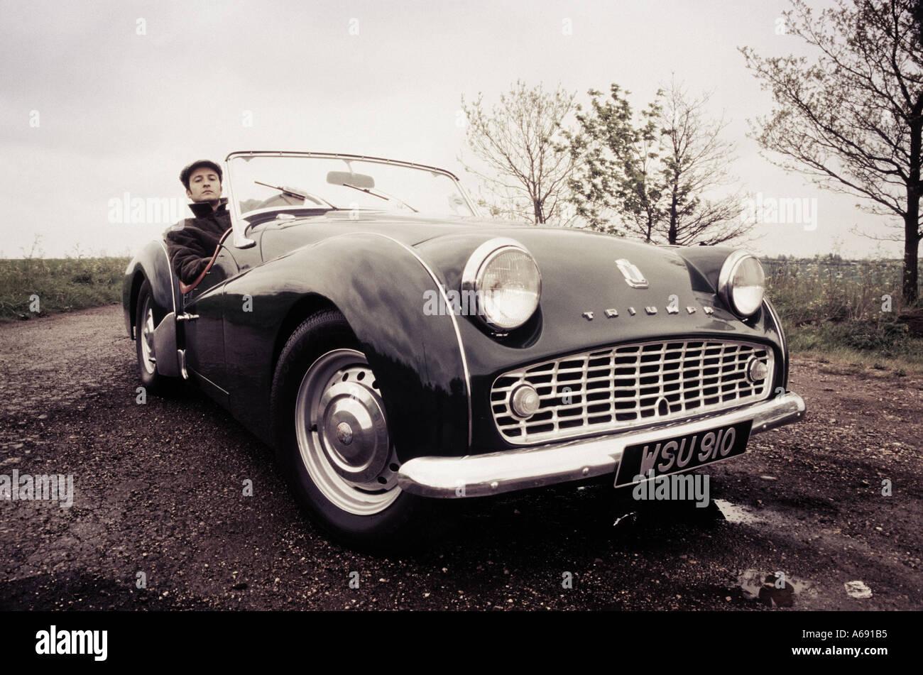 posh bloke with car 2 - Stock Image