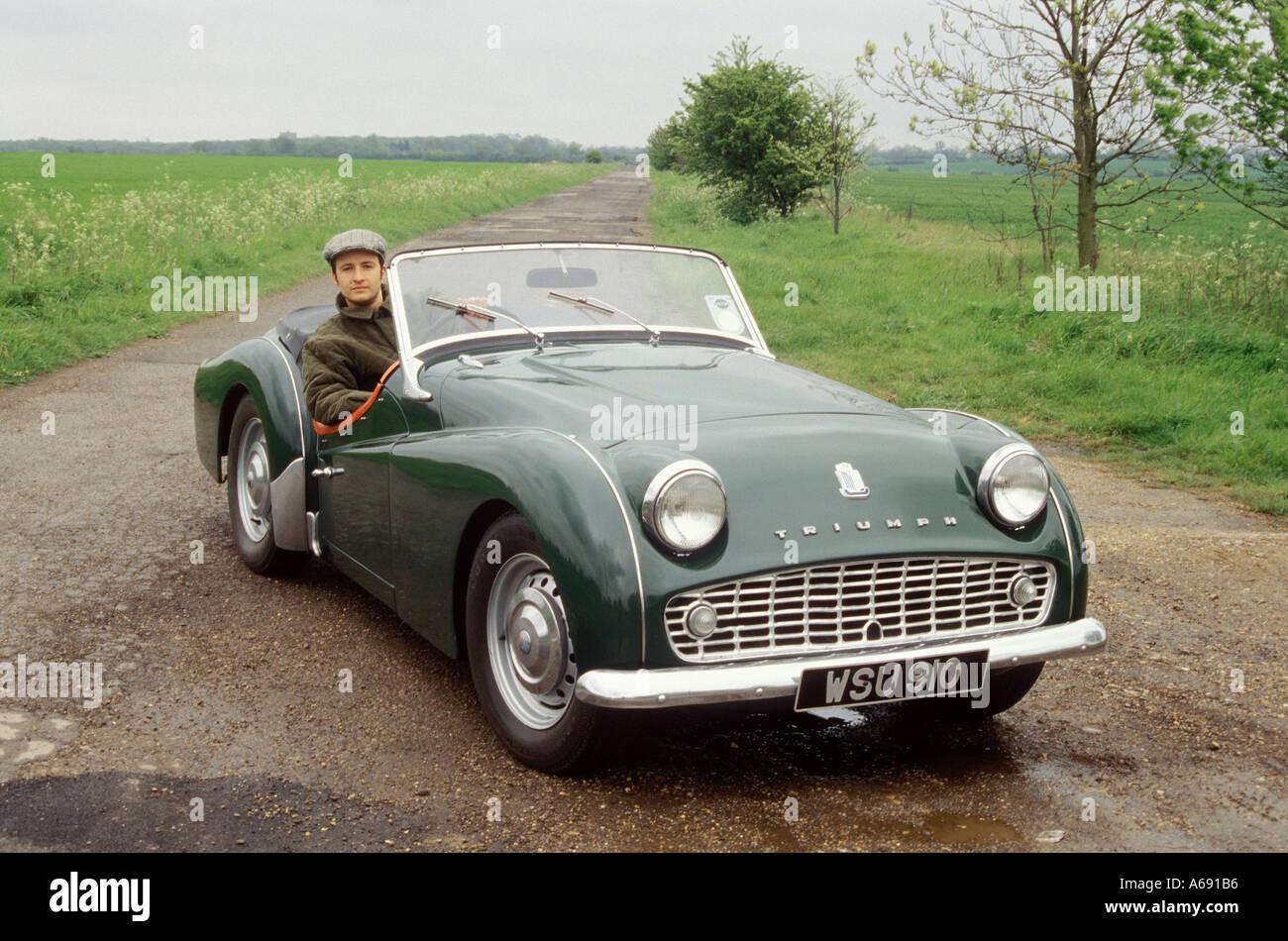 posh bloke with car 3 - Stock Image