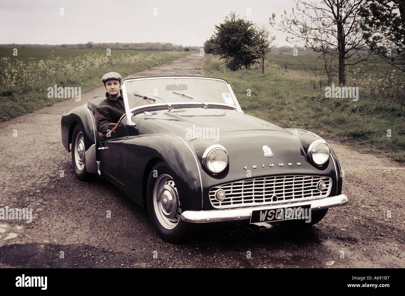 posh bloke with car 4 - Stock Image