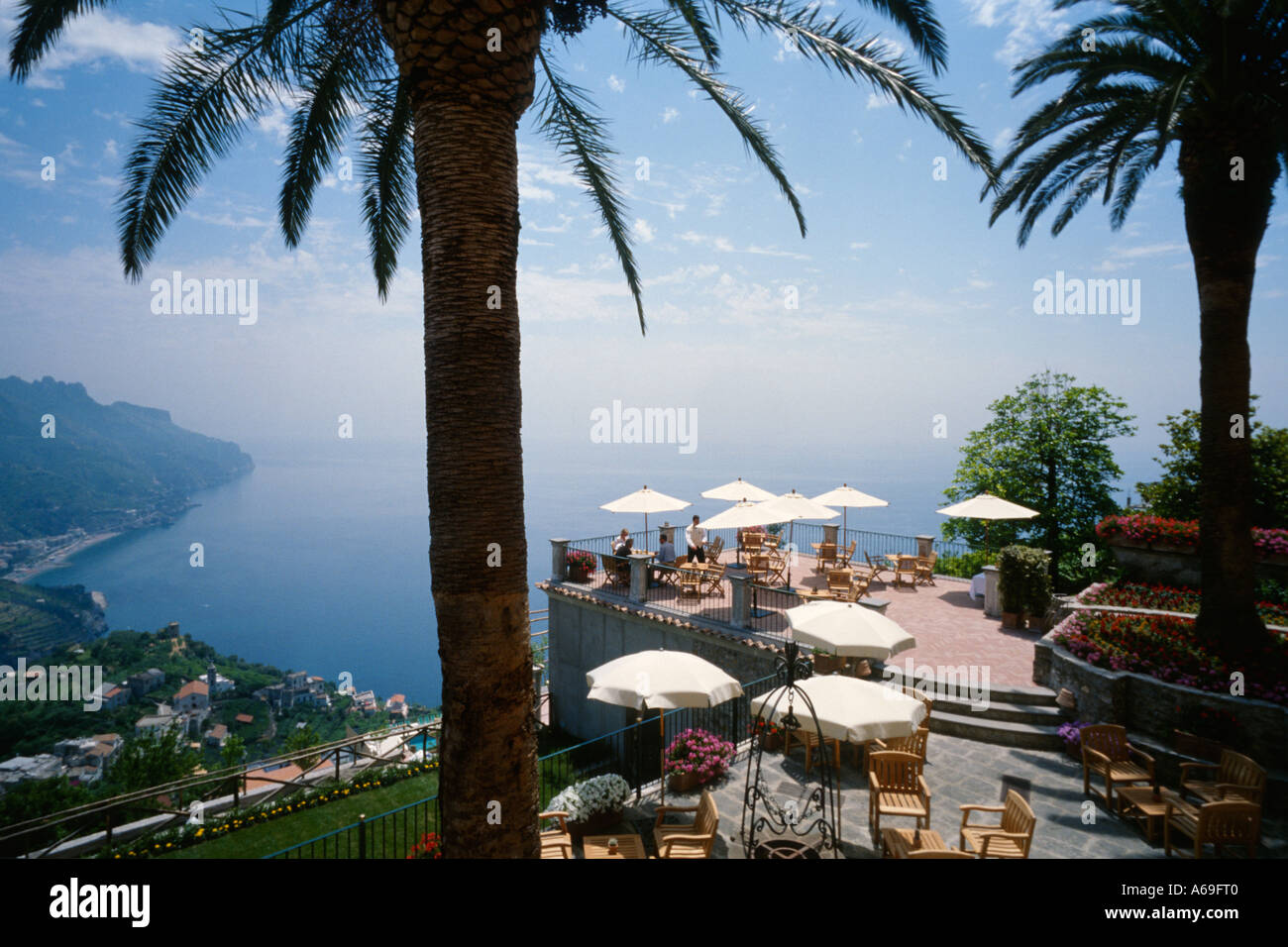 Ravello Amalfi Coast Italy View From The Terrace Of The Luxury Hotel