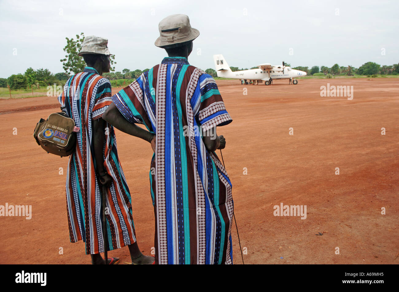 The semi nomadic Dinka tribe at the cattle camp, Rumbek, South Sudan. - Stock Image