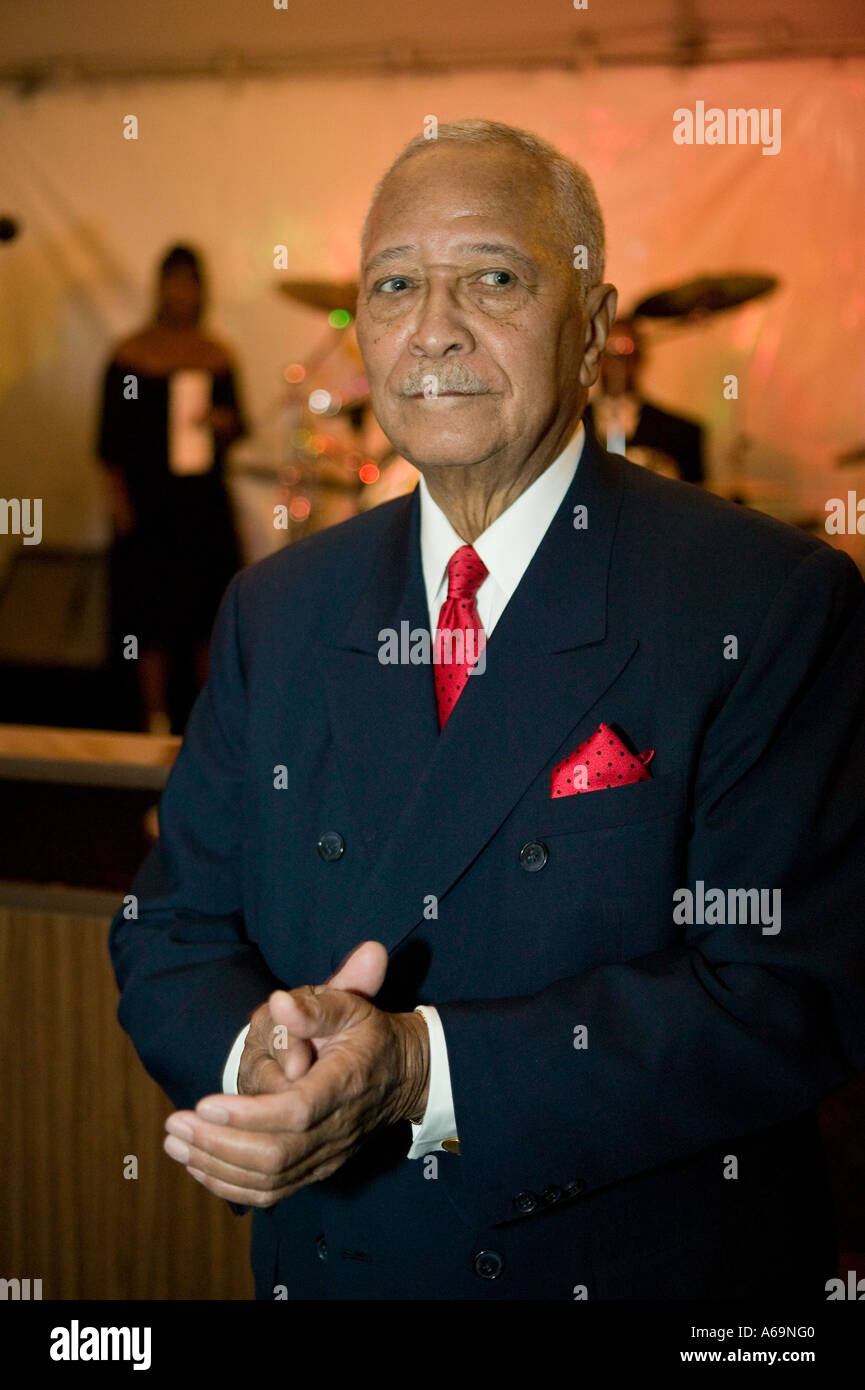 Former mayor David Dinkins attends a social function in New York City USA 23 February 2006 Stock Photo