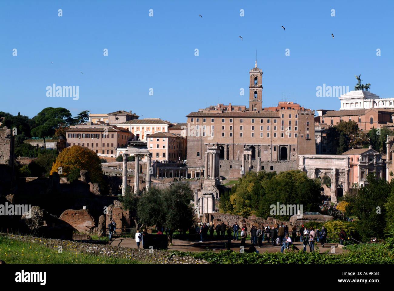 The Palatine Rome Italy November 2004 - Stock Image