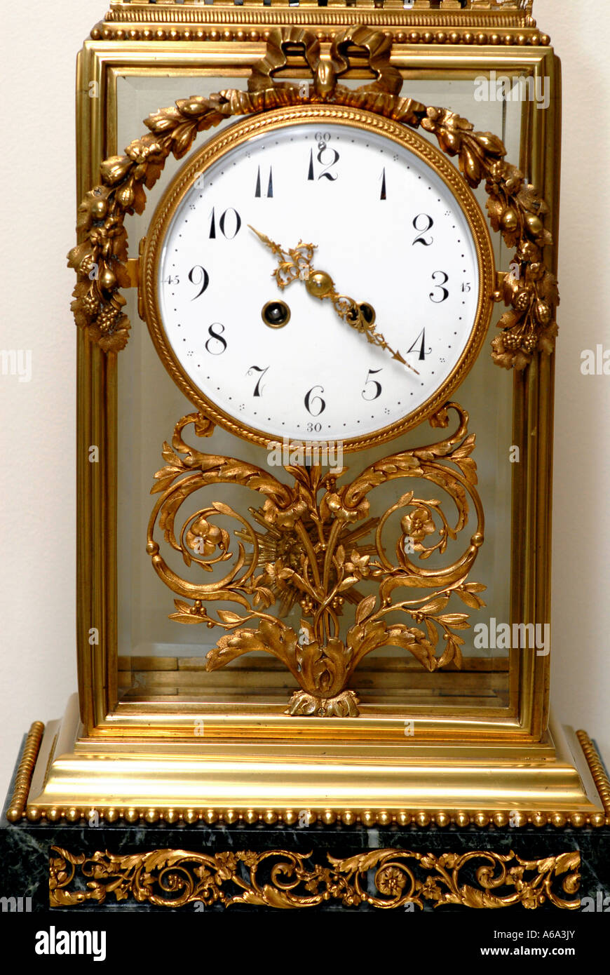 1890 s Antique French Clock - Stock Image