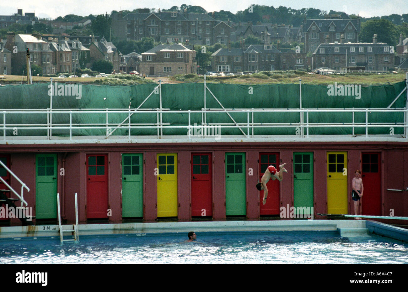 north berwick outdoor swimming pool shortly before the east lothian stock photo 435399 alamy