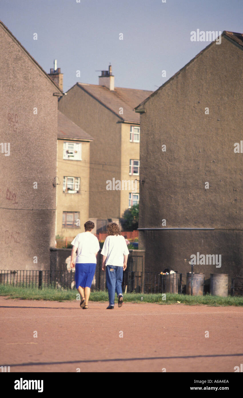 Council Housing in East End of Glasgow Scotland - Stock Image