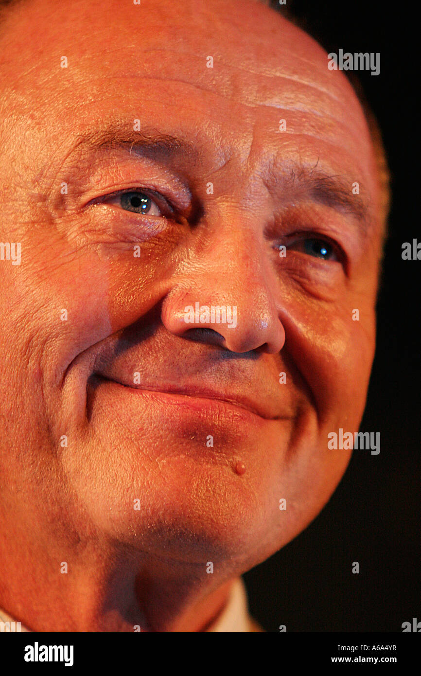 Ken Livingstone speaks about the first NFL American Football game to be played at Wembley - Stock Image