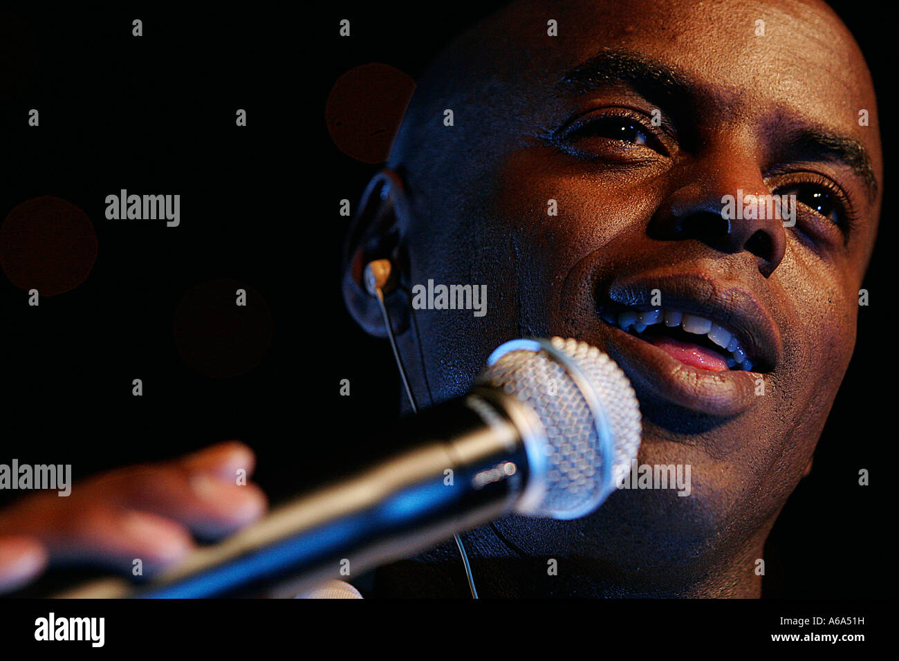 Radio One DJ Trevor Nelson hosts Superbash IV MOBO - Stock Image