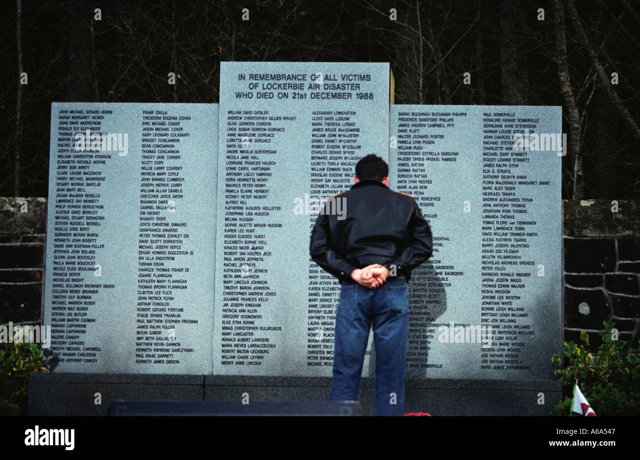 Lockerbie Memorial to PanAm 103 - Stock Image