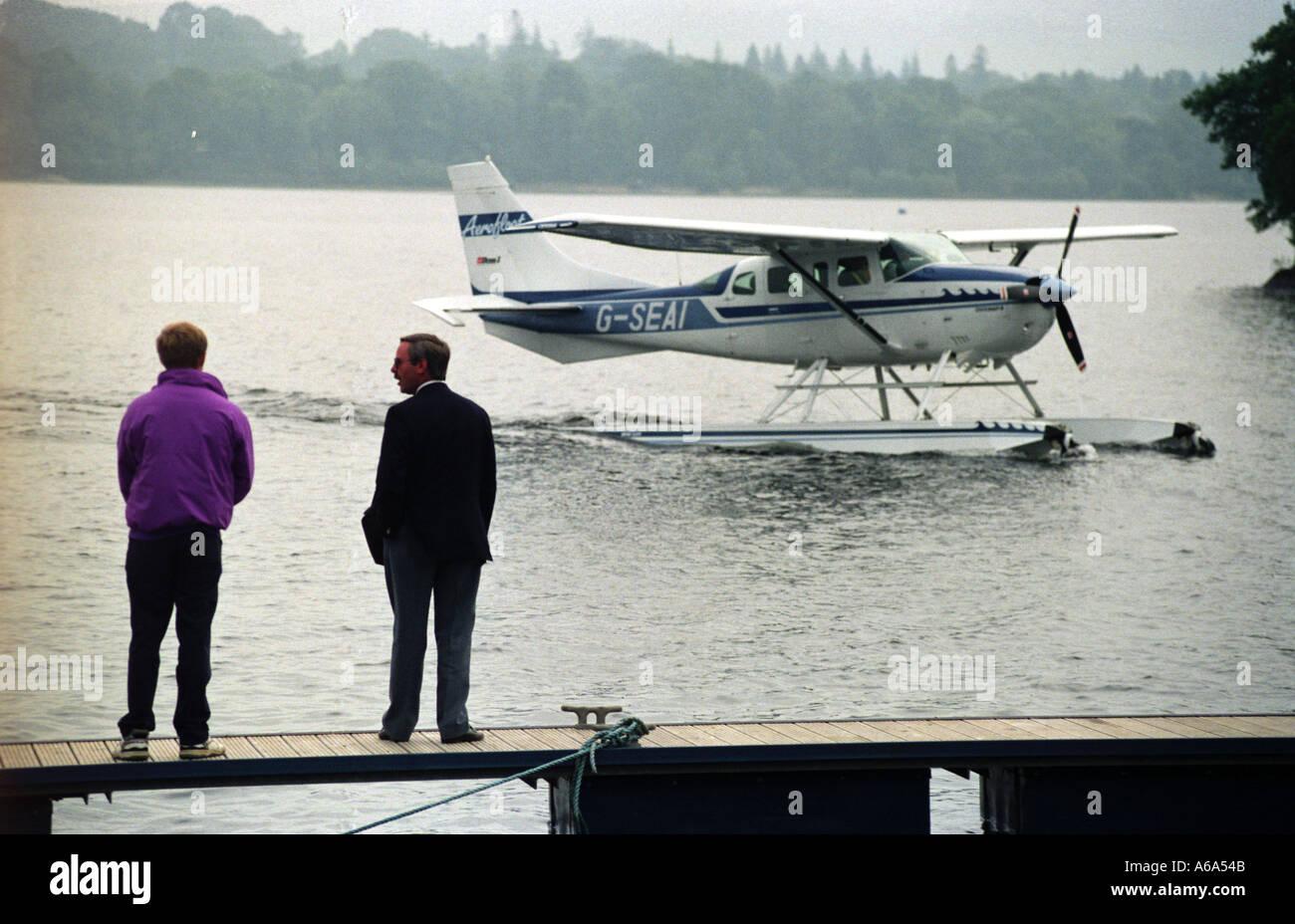 Cessna 206 Amphibian operated by Aerofloat on Loch Lomond Scotland