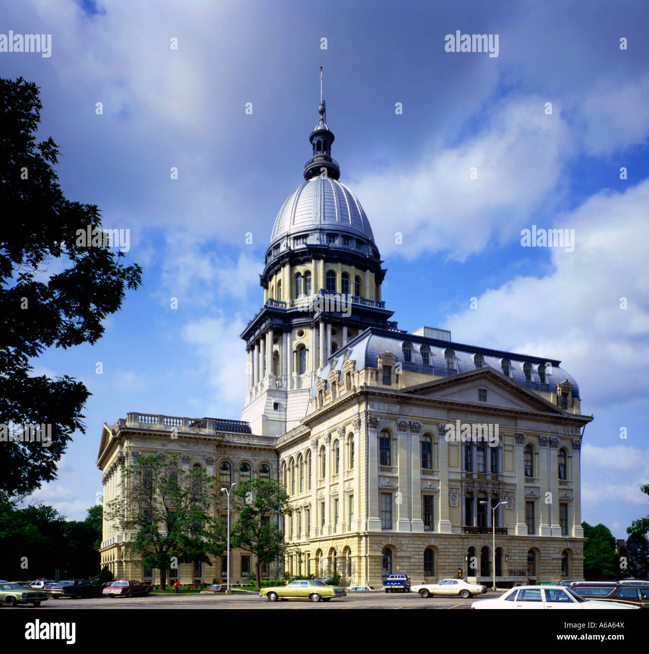Illinois State capitol building in Salem in Illinois - Stock Image