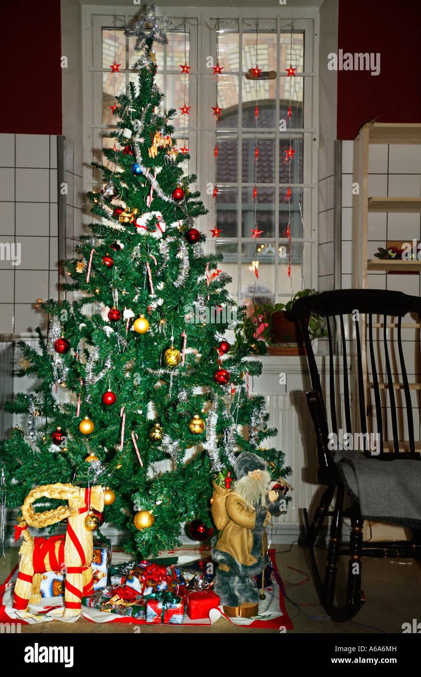 christmas tree stock image - Swedish Christmas Tree