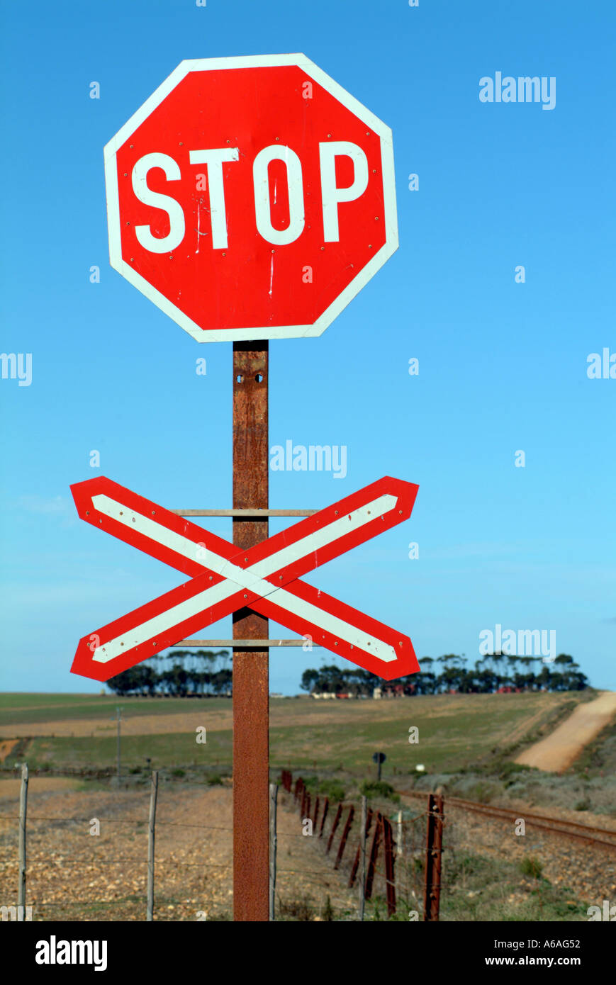Level Crossing Sign Stock Photos & Level Crossing Sign Stock